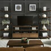 Corey Rustic Brown 3-piece Entertainment Center By Inspire Q Brown Modern And Cont