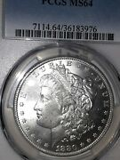 1880-o 1 Morgan Dollar Pcgs Ms64 Rare, Very Brilliant, Best Value Coin Here