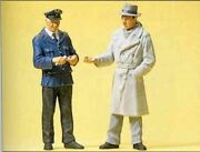 Preiser G Scale Figures People Working Conductor And Passenger   45003