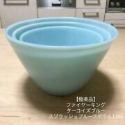 Oven Fire King Ware Turquoise Blue Splash Nesting Mixing Bowl Set Of 3 S M L 50s