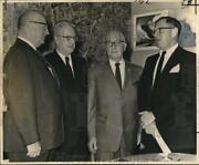 1963 Press Photo Dock Board New Member And Elected Officers At Meeting
