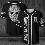 Friday The 13th Baseball Jersey Size S-5xl