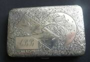 Exceptional Antique English Sterling Silver Card Case Sampson Mordan London