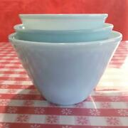 Oven Fire King Ware Turquoise Blue Splash Proof Nesting Mixing Bowl Set Of 3