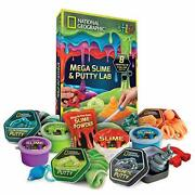 National Geographic Mega Slime Kit And Putty Lab - 4 Types Of Amazing Slime