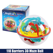 Barriers 3d Maze Ball Labyrinth Magic Intellect Balance Puzzle Toy T4 Ca