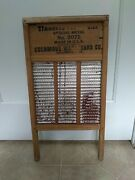Vintage Maid-rite No 2072 Wash Board Columbus Washboard Co. Standard Family Size