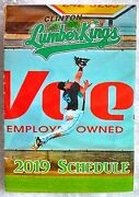 2019 Clinton Ia Lumber Kings Schedule Glossy Color Paper 5 Panels Both Sides