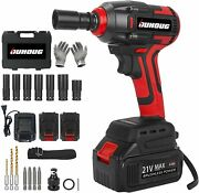 Cordless Impact Wrench, 1/2 Chuck Driver/drill/screws With 3200rpm Red