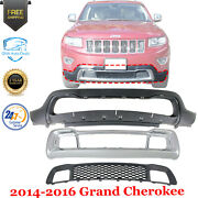 Front Bumper Cover Kit With Grille For 2014-2016 Jeep Grand Cherokee