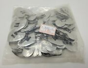 Lot 144 Pcs Silver Heart Metal Western Slotted Conchos Indie Leather Crafts Vtg