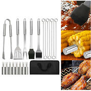 20x Professional Bbq Tool Grill Accessories Set For Outdoor Camping Grilling