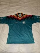 1994 Germany Away Soccer Kit Jersey Adidas Green World Cup