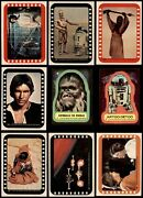 1977 Topps Star Wars Stickers Partial Complete Set 6.5 - Ex/mt+