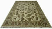 Hand Knotted Highend Luxurious Wool And Silk Area Rug 6.10 X 9.7 Feet Home Decor