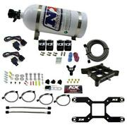 Nitrous Oxide Injection System Kit 4150 Dual Stage Billet Crossbar, 50-300 And 10