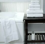 Spa - Hotel Collection 100 Cotton Bath Towels Soft 600 Gsm 6 Pack Set - White