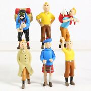 New Anime The Adventures Of Tintin Action Figure Collectible Model Pvc Toy Gifts