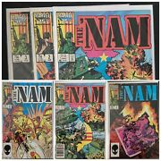 Vintage 1987 The 'nam - Marvel - Volume 1, 2 And. 3 Comic Books All Vf/ex Cond.