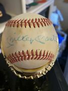 Mickey Mantle Signed Autographed Baseball Sweet Spot Auto Psa/athenicated