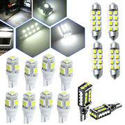 12x Car Led Interior Light Bulb Kits For Dome Map License Plate Lamp Accessories