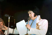 Elvis Presley In Mexican Sundial Suit Tcb Ring Largo Md 5/22/77 Photo Candid 4