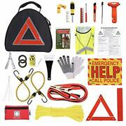 Thrive Car Emergency Kit With Jumper Cables + First Aid Kit   Auto Emergency ...