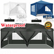 Waterproof 10and039x10and039 Pop Up Canopy Gazebo Foldable Wedding Party Tent Sidewall/bag