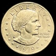 1979 D Susan B Anthony Dollar Excellent Luster. Great Coin Sharp Strike. Rare