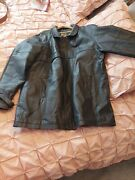 Menand039s Leather Jacket By Echt Leder Used Excellent Condition Blackeur Size 56