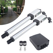 Electric Motor Automatic Dual Swing Gate Openers Kit For Driveway Fence Gate