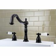 Victorian Crystal Roman Tub Faucet Oil Rubbed Bronze