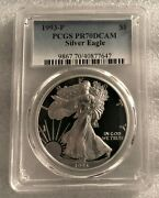 1993-p Proof American Silver Eagle Pr-70 Pcgs Dcam Limited Mintage