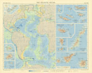Atlantic Ocean Islands. Canary Azores Madeira Bermuda Ascension. Times 1956 Map