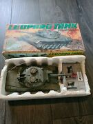 Rare Vintage 1980and039s Leopard German Ww2 Radio Control Tank Toy Boxed
