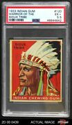 1933 Goudey Indian Gum 120 Warrior Of The Sioux Tribe Psa 5.5 - Ex+