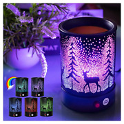 Hituiter Fragrance Wax Melts Warmer With7 Colors Lighting Oil Lamp Scented Wax