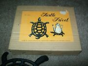Vintage Cast Iron Turtle Trivet 7 Made In Taiwan New In Box Nos