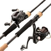 Casting Spinning Fishing Rod And Reel Combo 1.98/2.1/2.4m Lure Bass Travel Rod