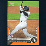 Nick Madrigal Rc 2021 Topps Now 124 Orange 1/5 First Print - 1st Walk-off Hit
