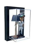 Framed Acrylic Wall Mount Bobblehead Display Case Uv Protecting Secure Mount