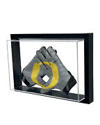 Framed Acrylic Wall Mount Football Glove Display Case Uv Protecting Secure Mount
