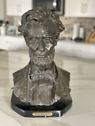 Abraham Lincoln Gilded Bronze Statue Bust By George Bissell