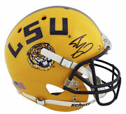 Lsu Shaquille O'neal Authentic Signed Yellow Schutt Full Size Rep Helmet Bas