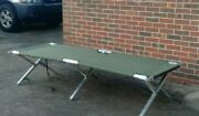 Genuine Military Issued Aluminum Portable Sleep Cot 78in Andtimes 26in Free Shipping