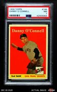 1958 Topps 166 Danny O'connell Giants Psa 7 - Nm