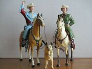 Vintage 1950's Hartland Roy Rogers And Traditional Dale Evans W/bullet Complete