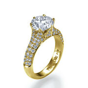 1.81ct G-si1 Diamond Unique Engagement Ring 18k Yellow Gold Size 8.5