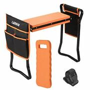 Lanniu Garden Kneeler And Seat Foldable Bench Stool With Kneeling Pad And 2 Xl