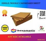 Corrugated Cardboard Sheets Brown A5 A4 A3 A2 A1 A0 Single / Double Wall